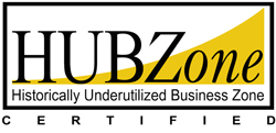 Certified HUBzone Historically Underutilized Business Zone