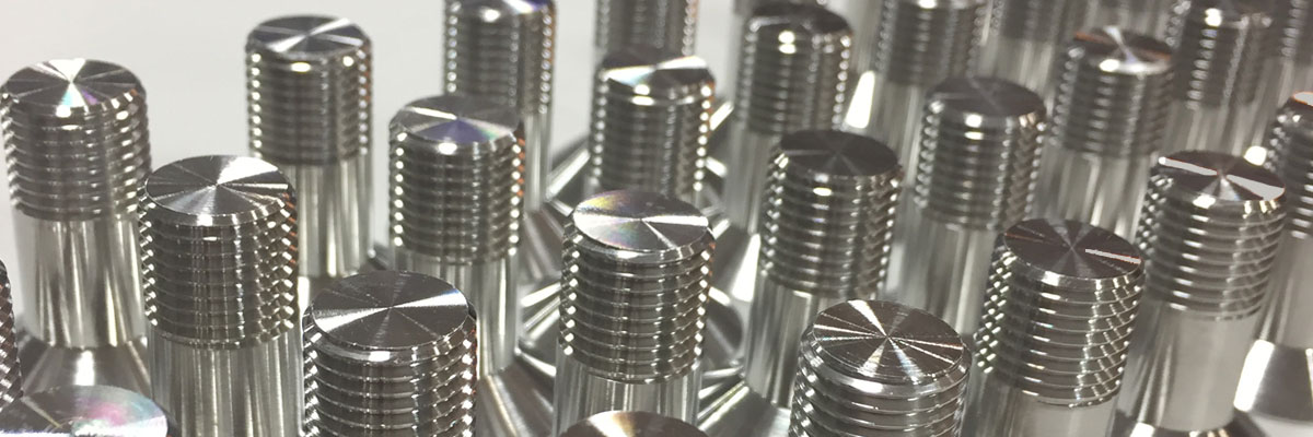 Passivated Fasteners in a row at H&W Global